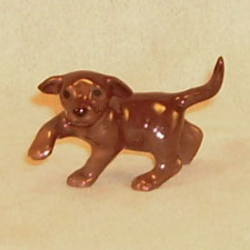 Hagen Renaker Miniature, Lab Puppy Chocolate