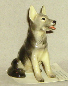 Hagen Renaker Miniature, German Shepherd Sitting
