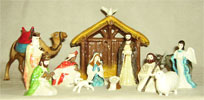 Holiday, Hagen Renaker Miniature, Nativity Set