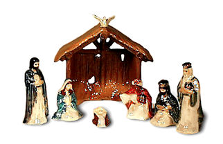 Holiday, Hagen Renaker Miniature, Nativity Set 7 pc