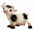 On The Farm, Hagen Renaker Miniature, Spotted Cow